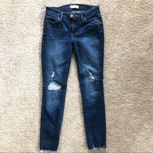 Dark Distressed Jeans